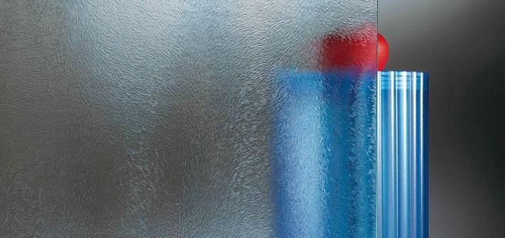 Ornamentální sklo - chinchilla