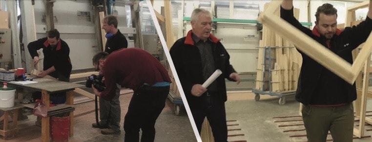 Těžká dřina - výroba dřevěných oken VEKRA