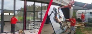Montáž oken VEKRA pomocí jeřábové techniky